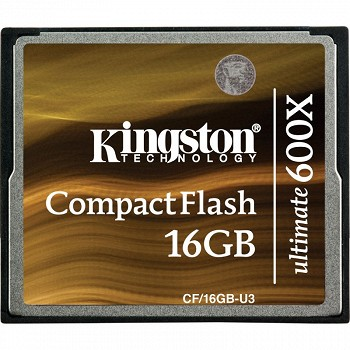 KINGSTON COMPACTFLASH 16GB U3 ULTIMATE 600X