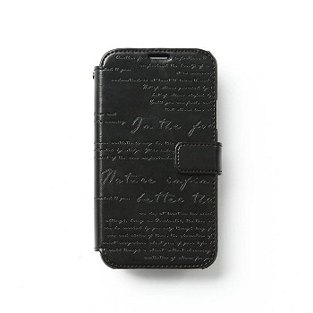 ZENUS GALAXY S5 LETTERING DIARY CASE BLACK