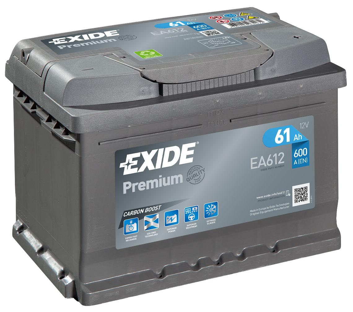 EXIDE PREMIUM 61 ა/ს EA612