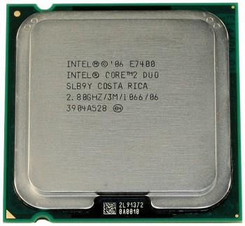 INTEL CORE 2 DUO E7400 (3 MB ქეშ მეხსიერება, 2.8 GHZ) TRAY