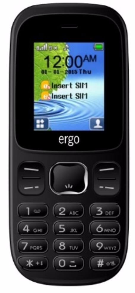 ERGO F180 START DUAL SIM BLACK