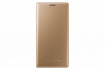 SAMSUNG GALAXY S5 MINI FLIP COVER GOLD (EF-FG800BFEGRU)