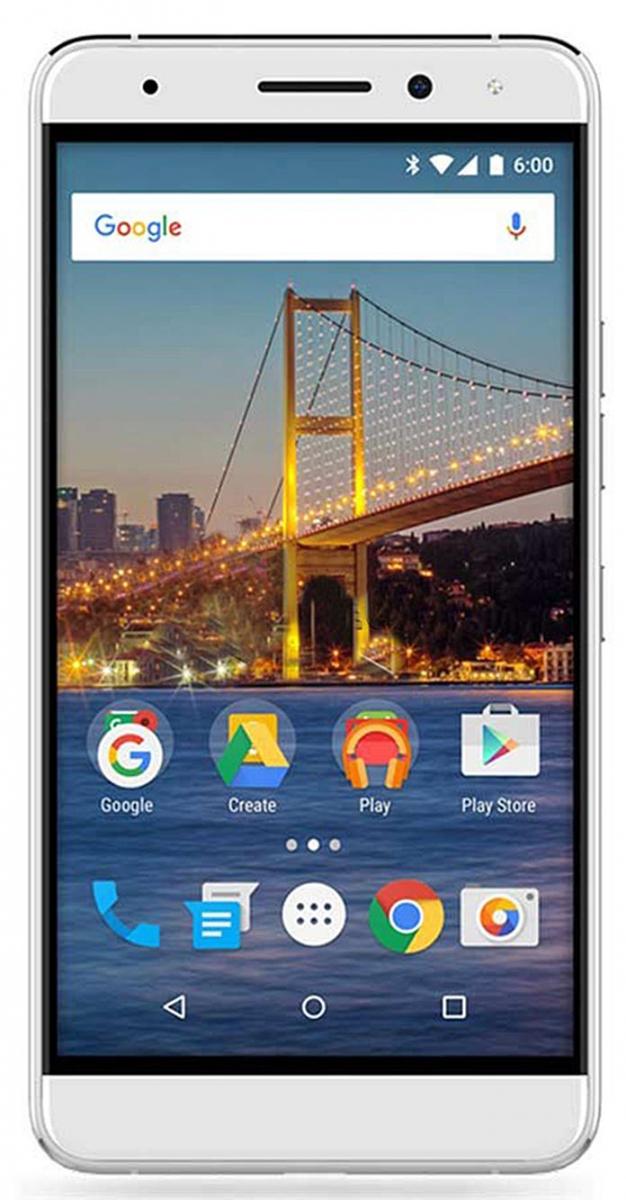 General Mobile 5 Plus Dual Sim LTE (4.5G) White/Silver