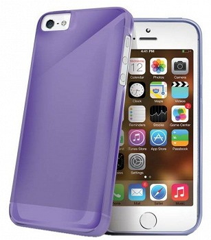 CELLY TPU CASE FOR APPLE IPHONE 5S VIOLET