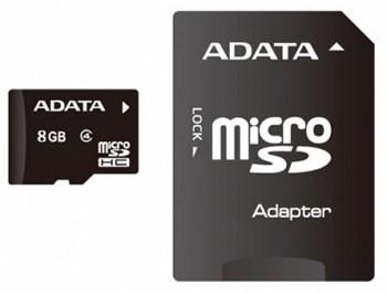 ADATA MICROSDHC 8GB (AUSDH8GCL4-RA1)
