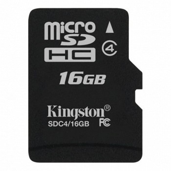 KINGSTON MICROSDHC 16 GB CLASS 4