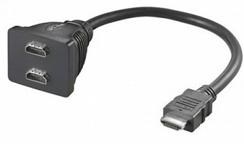 HDMI male - 2x HDMI female (ah012)