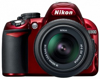 NIKON D3100 18-55 VR RED