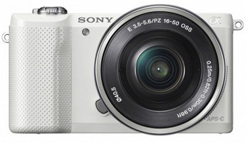 SONY ILCE-5000L WHITE + KIT 16-50 მმ