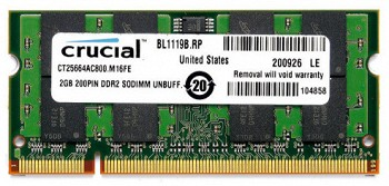 CRUCIAL 2GB DDR2  800MHZ (CT25664AC800)