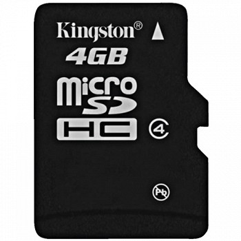 KINGSTON MICROSDHC 4 GB CLASS 4 + SD ADAPTER