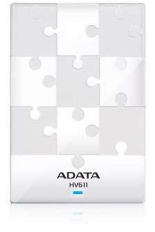 A-DATA HV611 500GB USB3.0 WHITE
