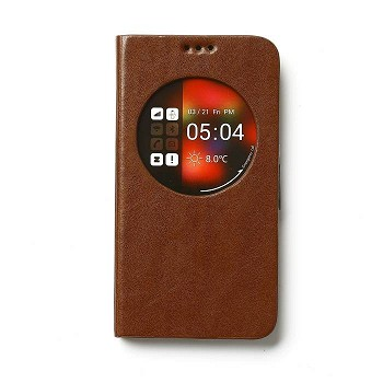 ZENUS GALAXY S5 AVOC ZVIEW TOSCANA DIARY CASE BROWN