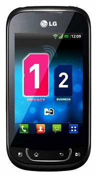 LG OPTIMUS NET DUAL P698 BLACK