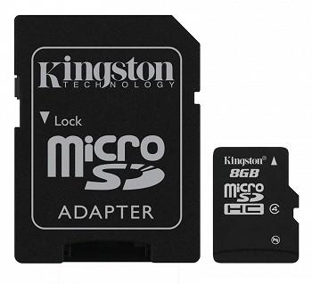 Kingston microSDHC Class 4 8 GB