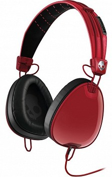 SKULLCANDY AVIATOR  Red/ Black  W/MIC3 (s6avdm-232)