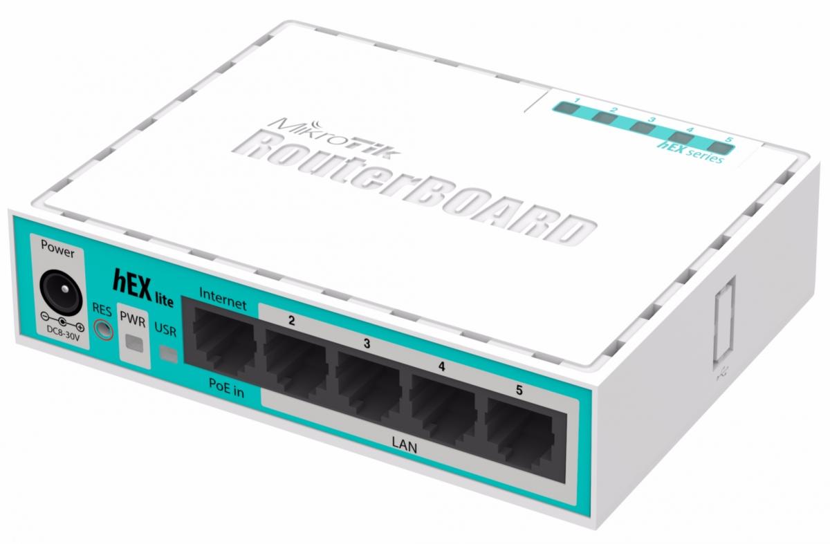 როუტერი MIKROTIK HEX LITE RB750R2