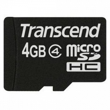 TRANSCEND MICROSDHC 4 GB CLASS 4 NO ADAPTER