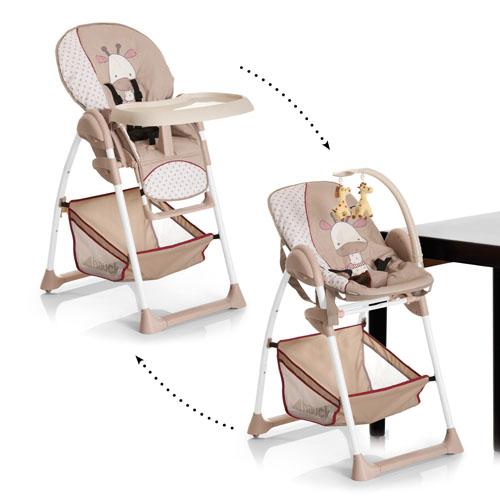ბავშვის სკამ-მაგიდა + შეზლონგი HAUCK SIT'N RELAX GIRAFFE (665176)