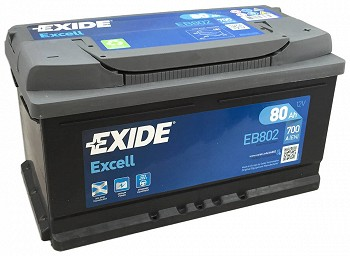 EXIDE EXCELL 80 ა/ს EB802