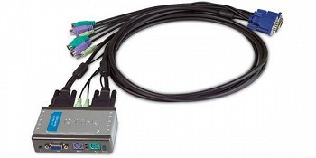 D-LINK KVM SWITCHES/ 2-PORT PS/2 KVM-121SWITCH WIT