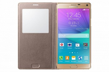 SAMSUNG GALAXY NOTE 4 S VIEW COVER GOLDEN CAMEL (EF-CN910BEEGRU)