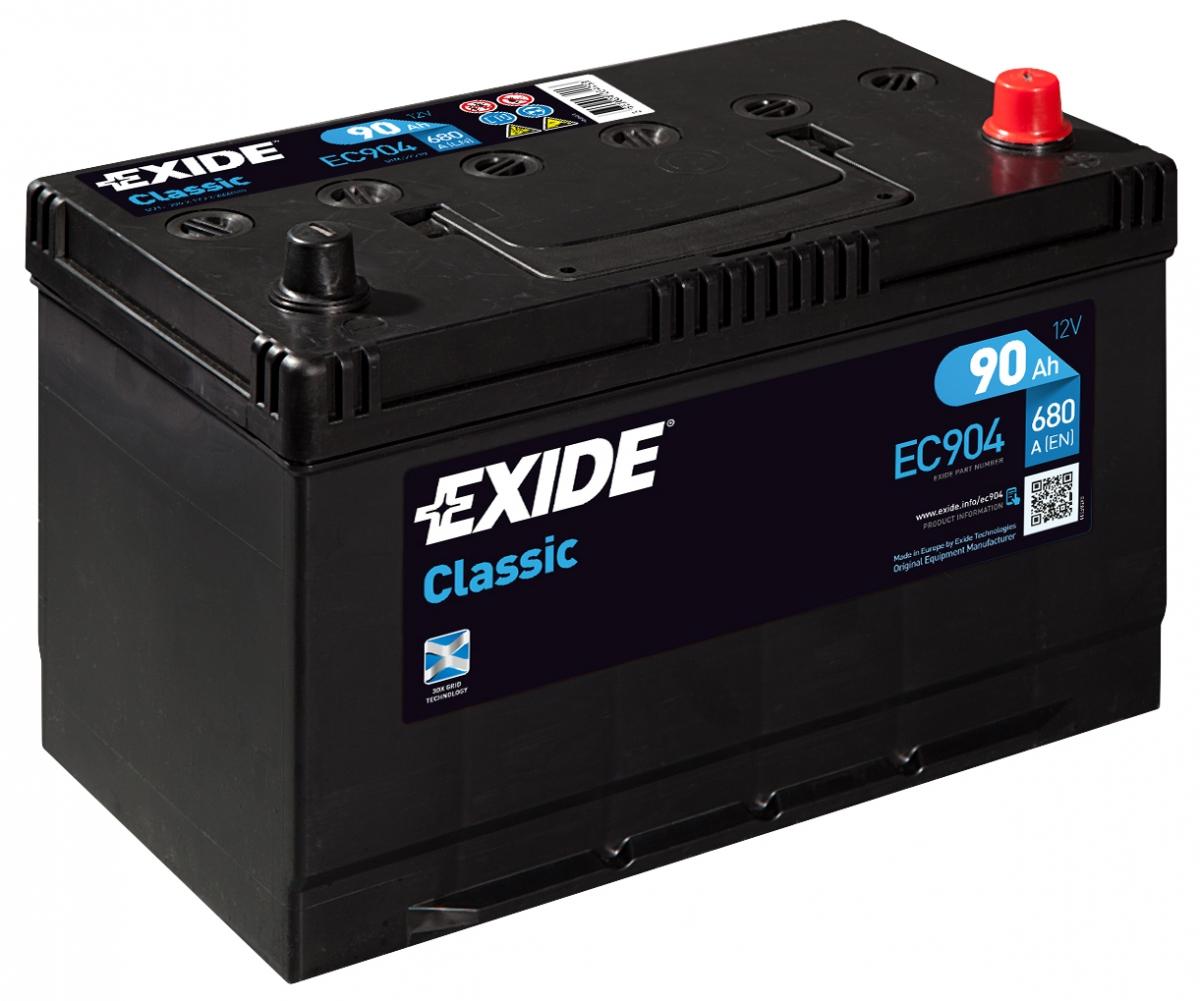 EXIDE CLASSIC 90 ა/ს EC904