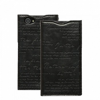 ZENUS XPERIA Z1 COMPACT LETTERING DIARY CASE BLACK